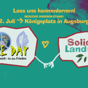 Unser Earth-Peace-Day Stand